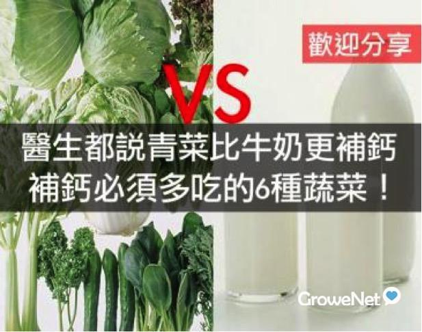 医生都说青菜比牛奶更补钙 !补钙必须多吃的6种蔬菜!